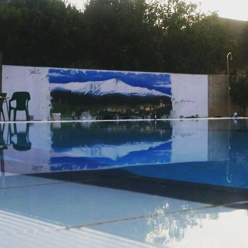 As se refleja el graffiti en el agua muchas graciashellip
